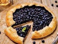 Рецепта Френски отворен пай (галет) с пълнеж от боровинки